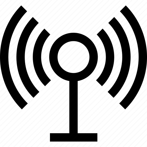 broadcast, broadcasting, podcast, wireless icon