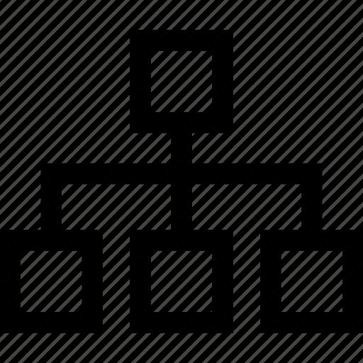 Hierarchy, scheme, sitemap, structure icon - Download on Iconfinder