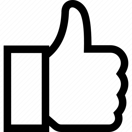 facebook, like, thumb, up icon