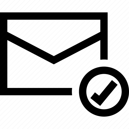 check, email, mail, sent icon