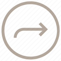 arrow, circular, direction, right arrow, right signals icon
