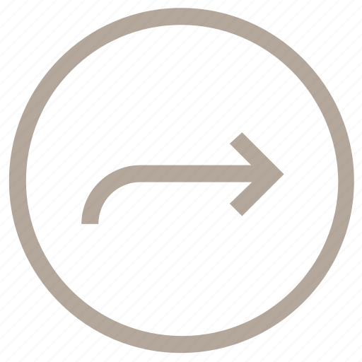 arrow, circular, direction, right arrow, right signals icon