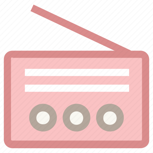 audio device, radio, recorder, tape, wireless transmission icon
