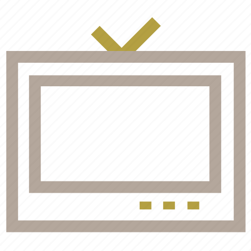 antenna television, multimedia, tv, tv screen, vintage tv icon