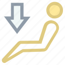car, drive accelerator point, man driving, stick man, transport icon