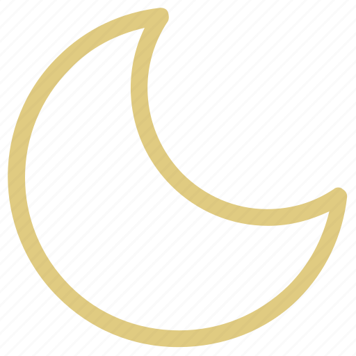 crescent, ecology, lunar, moon, weather icon