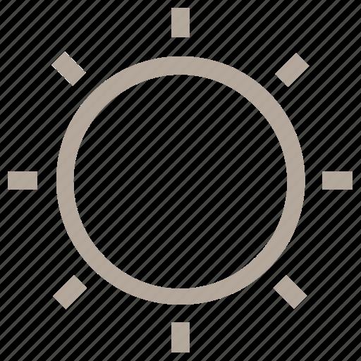 shining sun, summer, sun, sunny, sunshine icon
