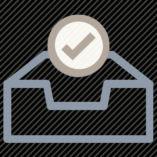 checkmark, database, database verified, server, server checked icon