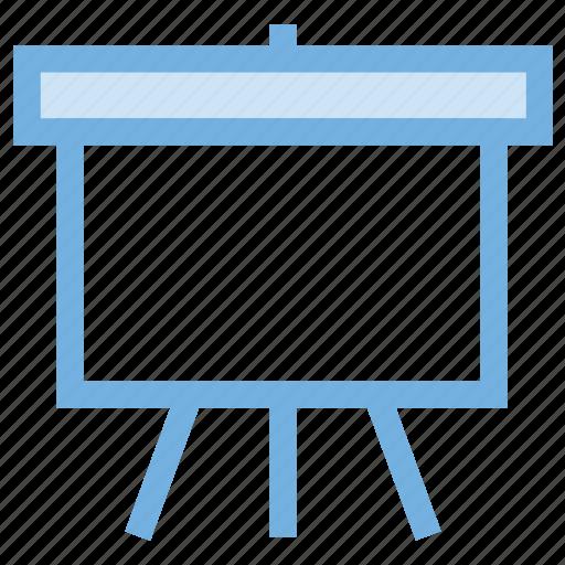 chalkboard, easel, easel board, flipchart, whiteboard icon