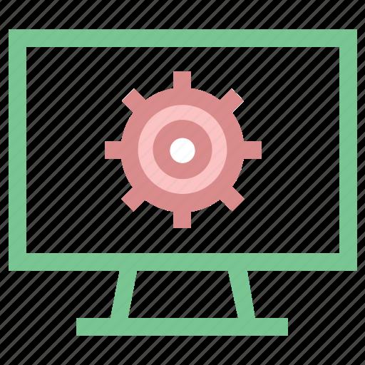 cog, cog wheel, gear, lcd setting, wheel icon