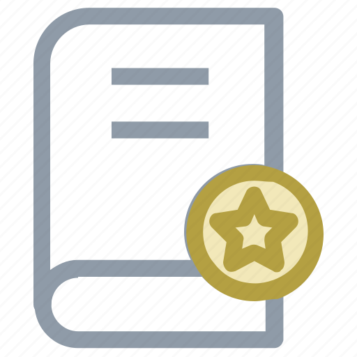 book, book with star, bookmark, diary, diary book icon
