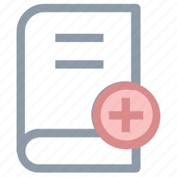 book, book with plus, bookmark, diary, diary book icon