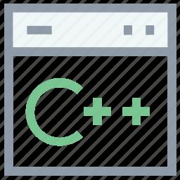c plus plus, c shop, programming coding, web development, web source icon