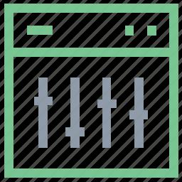 equalizer, parameters, screen equalizer, sound adjustor, sound controller icon