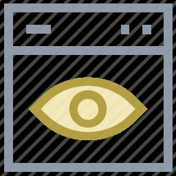 eye, eye focus, see, view, visible icon