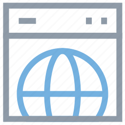 connectivity, global, globe, web browsing, webpage icon