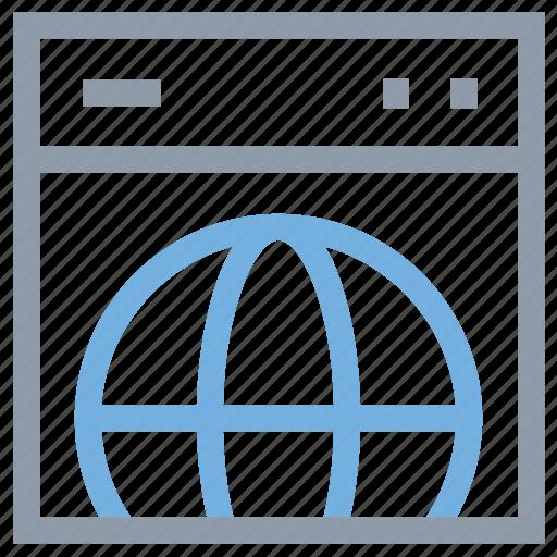 connectivity, global, globe, web browsing, webpage icon