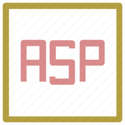asp, asp format, file format, interface, symbol icon