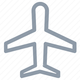 aeroplane, airplane, fly, jet, plane icon
