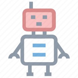 bionic robot, robot, robot face, robotic machine icon
