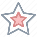 favorite, five pointed, five pointer, shape, star icon