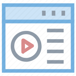 media, media player, multimedia, online videos, video player icon