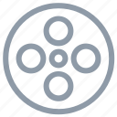 audiovisual, camera reel, film reel, movie reel, multimedia icon