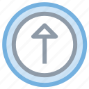 arrow, up arrow, upload button, uploading, uploading tray icon