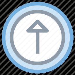arrow, up arrow, upload button, uploading, uploading tray icon