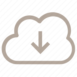 add cloud, cloud network, down network, down sign, download icon