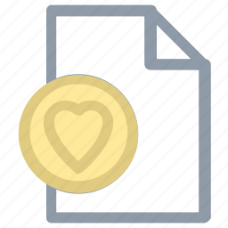 extension file, favorite, heart, heart file, heart shape icon