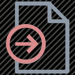extension file, file, file editing, send sign, sent file icon