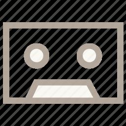audio cassette, cassette, compact cassette, music cassette, tape deck icon