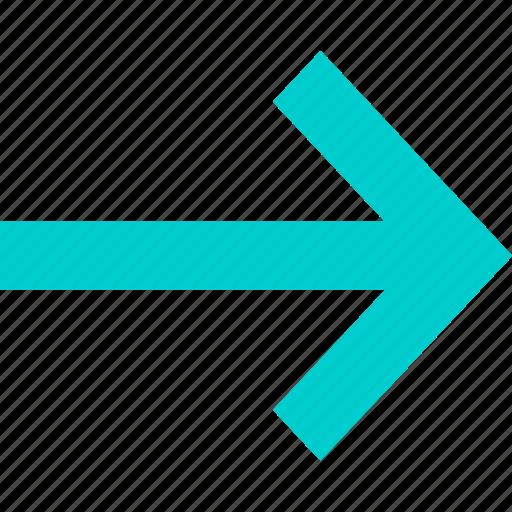 arrow, forward, go, right icon