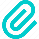 attachment, clip, document, file icon