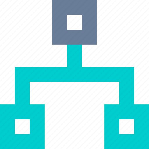 chart, flow, hierarchy, structure icon