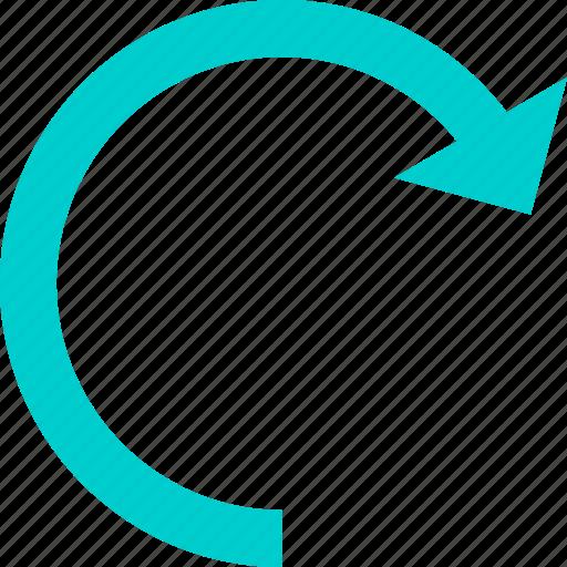 arrow, redo, right, rotate icon