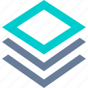 document, layer, paper, stack icon