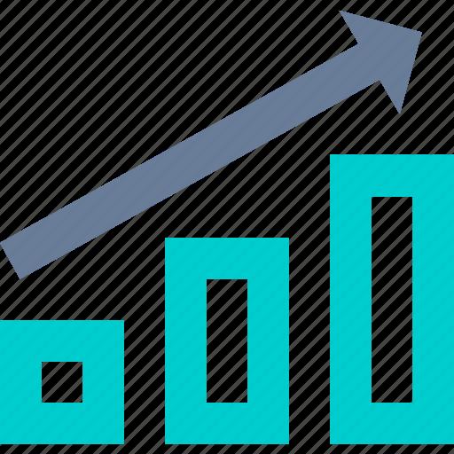 bar, charts, diagram, up icon