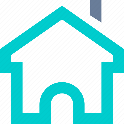 front, home, homepage, house icon