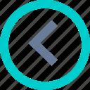 arrow, circle, left, previous, right