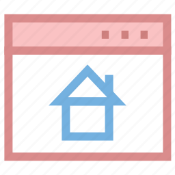 browser, home sign, homepage, webhome, website icon