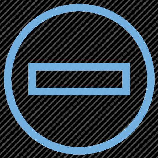 basic math, math symbol, mathematics, minus, subtract icon