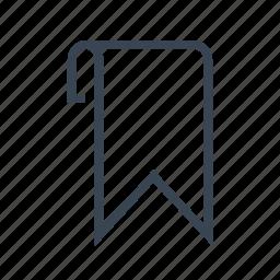 bookmark, favorite, mark, marker icon
