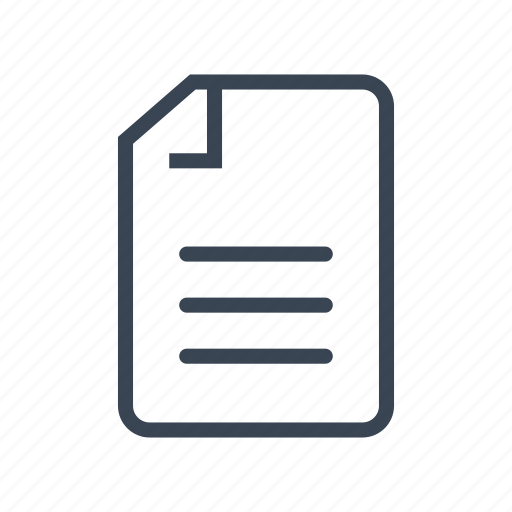 business, document, file, text icon