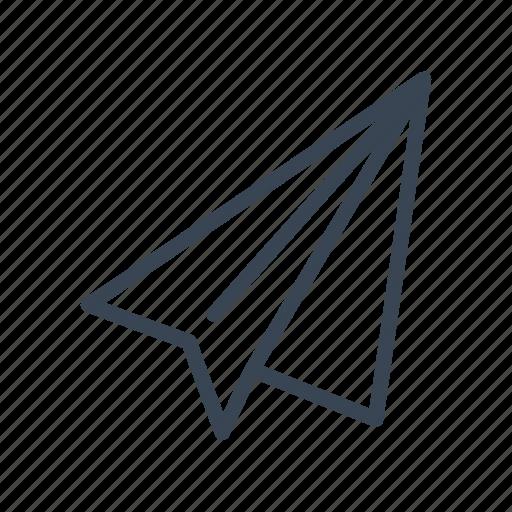 paper, paperplane, plane, send icon