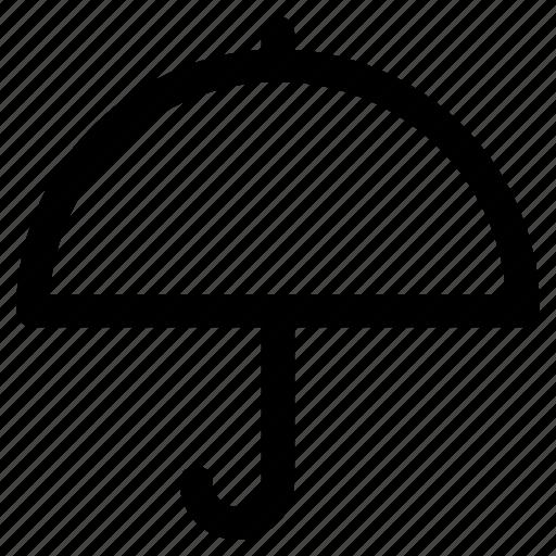 open umbrella, parasol, rain protection, sunshade, umbrella icon