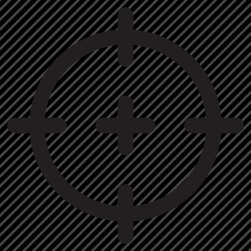 crosshair, focus, reticle, scope, target icon