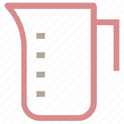 beaker, ewer, jug, measurement jug, pitcher icon