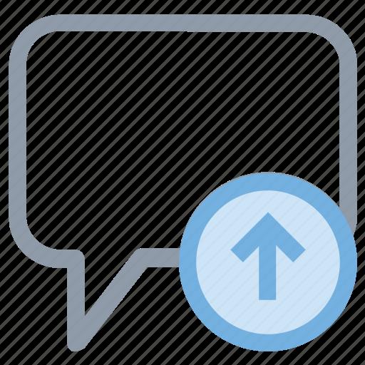chat balloon, chat bubble, send message, speech balloon, speech bubble icon